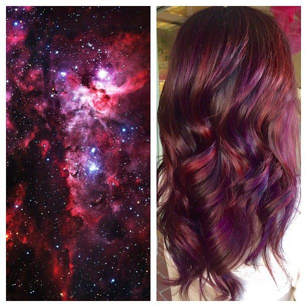 Loving this #galaxyhair trend. Jumping on the bandwagon. I mean, why not?! #1000orbust #beautifulhair #haircolorist #hairporn #behindthechair #modernsalon #americansalon #hairbrained #inspirehairstyles #imallaboutdahair #instahair #spacehair #purplehair #redhair #joico #fallhair #authentichairarmy