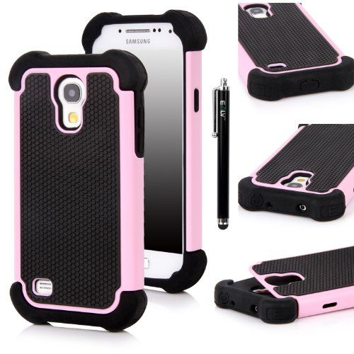E-LV Hybrid Armor Defender Protective Case Cover (Hard Plastic with Soft Rubber Silicon) for Samsung Galaxy S4 MINI i9190 with 1 Black Stylus and Microfiber Digital Cleaner - Pink Dual layer hybrid designed case for ultra performance and protection. Constructed with a soft silicon inner skin and a hard plastic outer shell. Slim, light weight and easy to install. With a Stylus and Microfiber Digita... #Elv #Wireless
