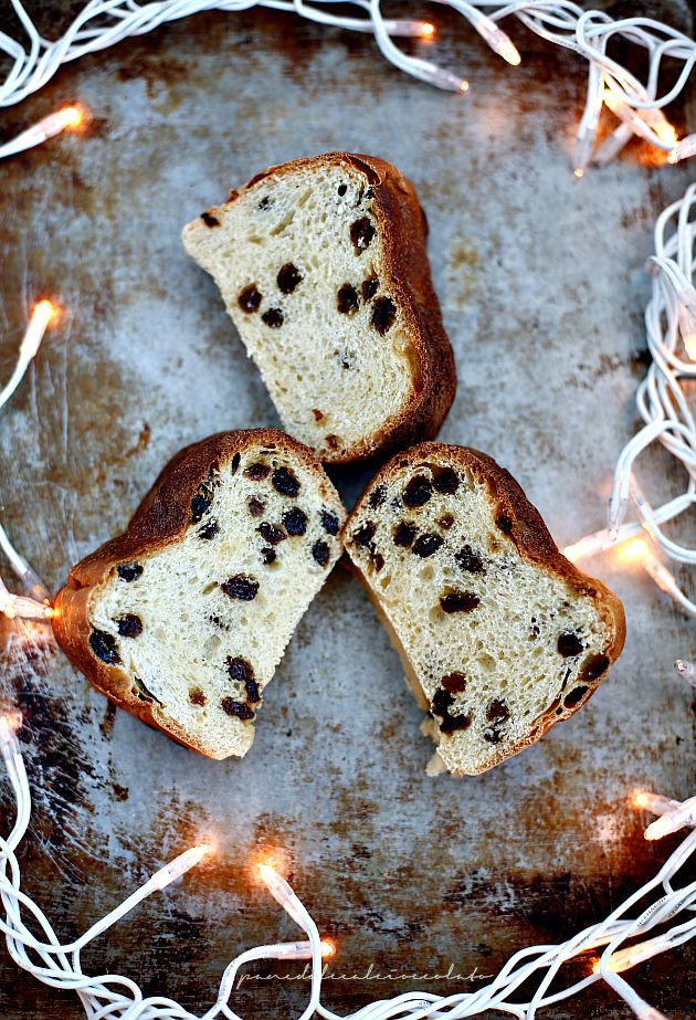 PANEDOLCEALCIOCCOLATO: Brioche for Christmas - Pan Brioche con uvetta di Natale con lievito madre