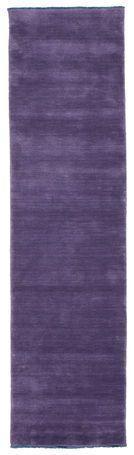 Tappeto Handloom fringes - Porpora 80x300