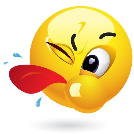 Tongue out emoticon If you just heard something on Facebook that you simply can't swallow, go ahead and spit this emoticon back at it!