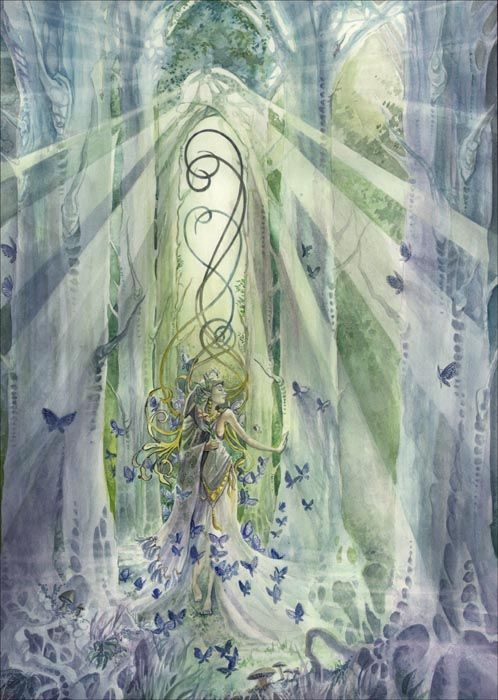 In Cathedrals of the Forest by Stephanie Pui-Mun Law.     Take me with you on this journey   Where the boundaries of time are now tossed   In cathedrals of the forest   In the words of the tongues now lost   ---Loreena McKennitt-