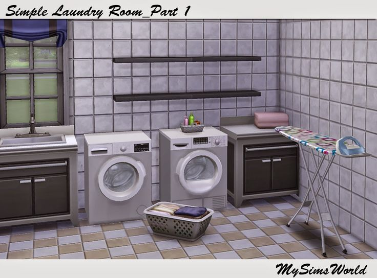 mysimsworld simple laundry room les sims 4 meubles et objets pinterest laundry rooms. Black Bedroom Furniture Sets. Home Design Ideas