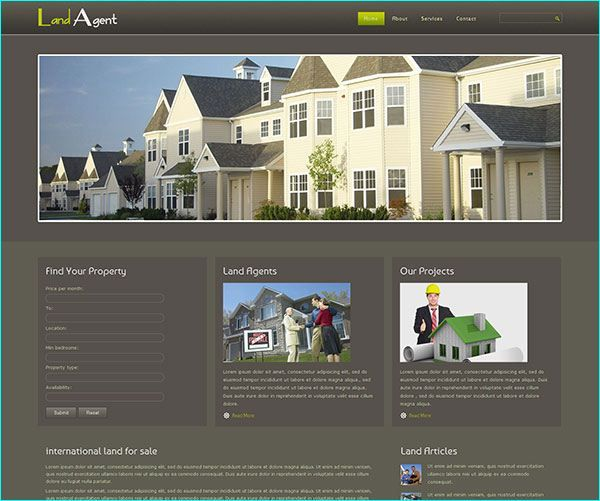 15 Real Estate Free HTML Website Templates
