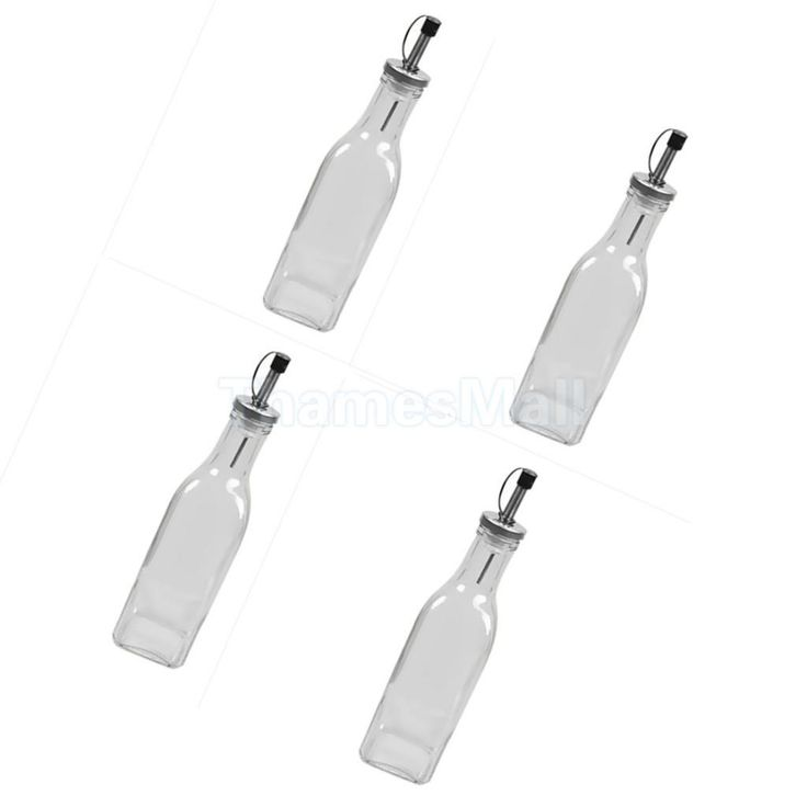 150Ml Oil And Vinegar Wave Bottle Set Glass Dispenser Bottles Cruet Set Of 4