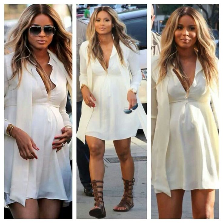 Ciara baby shopping in Beverly Hills