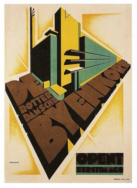 Opening vd De #Bijenkorf, #Rotterdam _ Vintage, Jacob Hooykaas, 1930 #Modernisme #Dudok #Churchillplein
