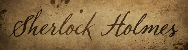 Handwritten Sherlock Holmes font based on the SH09...