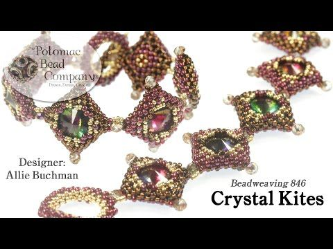 Crystal Kites Pattern/Tutorial - YouTube, all supplies from www.potomacbeads.com