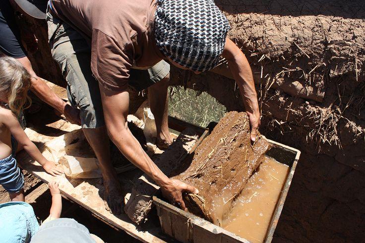 wetting bricks before laying them