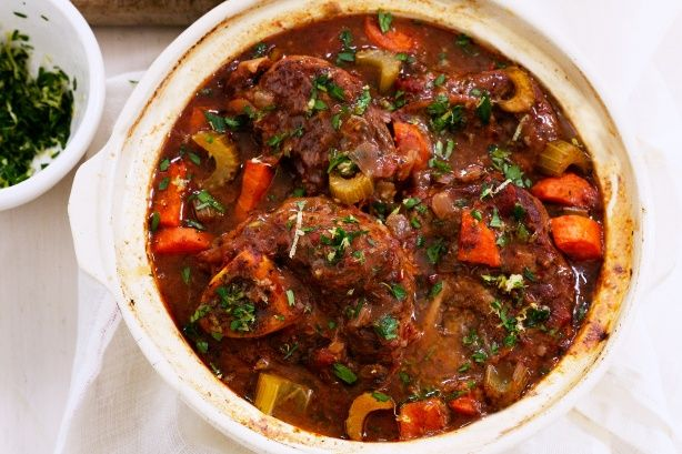 Foolproof osso bucco casserole for slow cooker. Add a tbsp corn flour half hour from the end to thicken the gravy.