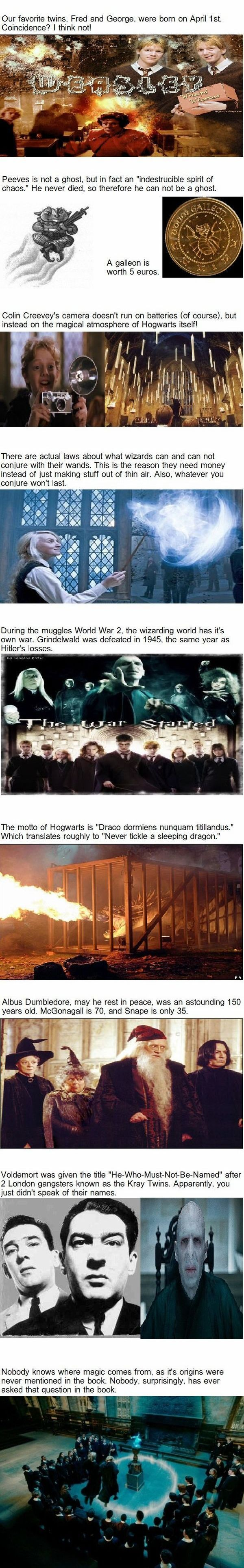 Fun  Harry Potter Facts...except Snape was actually 37 when he died. ^^ apparently