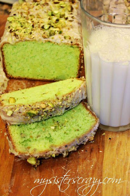 Pistachio Bread with Cinnamon and Pistachio Glaze...this is so good it's dangerous!