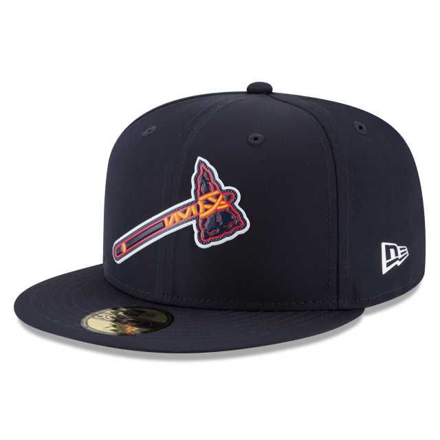 Atlanta Braves Mlb Batting Practice Prolight 59fifty Fitted 3 Quarter Left View Atlanta Braves Fitted Hats Braves