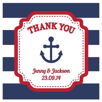 Nautical With Horizontal Line #WeddingPersonalizedTag / Sticker!! #Blueweddingtheme