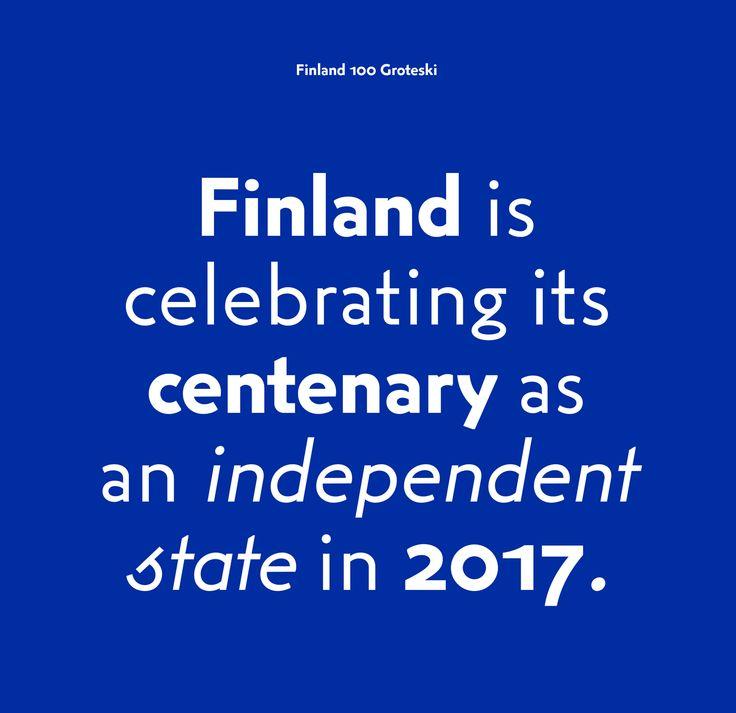 Finland 100 by Kokoro & Moi, Finland. #branding #design #typography