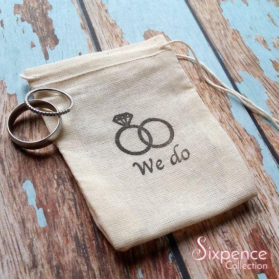 We do wedding  band ring bag. Ring pillow alternative ring