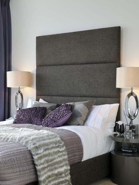 17 Best Ideas About Purple Grey Bedrooms On Pinterest