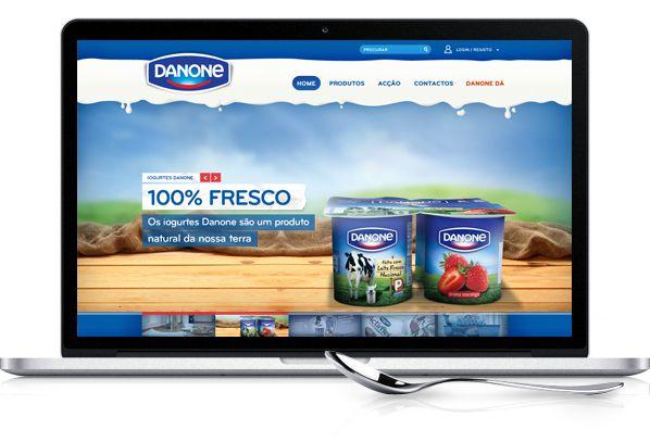 Danone Portuguese Website by Hugo Miguel Sousa, via Behance