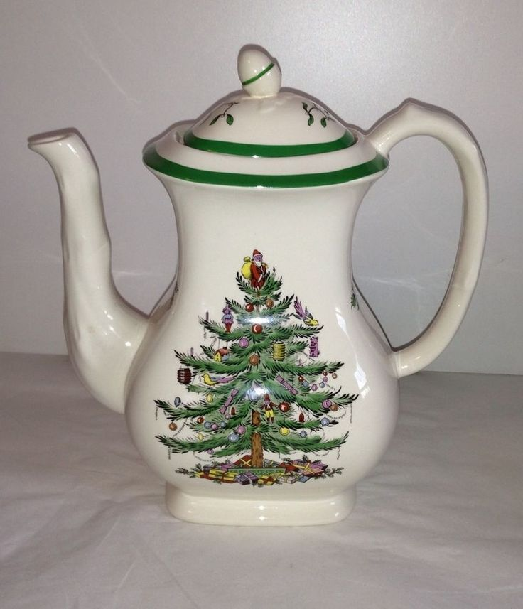 Christmas Tree Teapot: New Spode Christmas Tree 6 Cup Tea Pot Teapot Made In