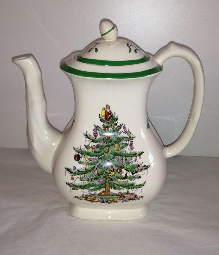 Spode Christmas Tree Sale: New Spode Christmas Tree 6 Cup Tea Pot Teapot Made In