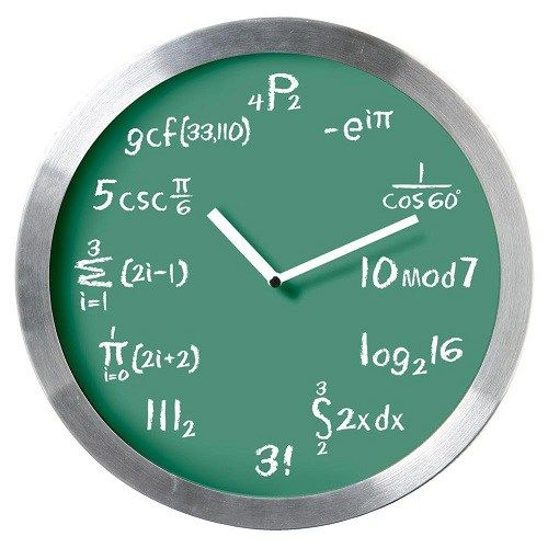 Mathematical Expression Blackboard Wall Clock. Gift ideas for engineers, geeks, nerds.
