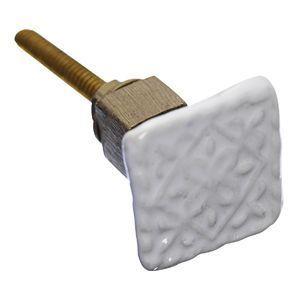 Porcelán fogantyú - Fehér