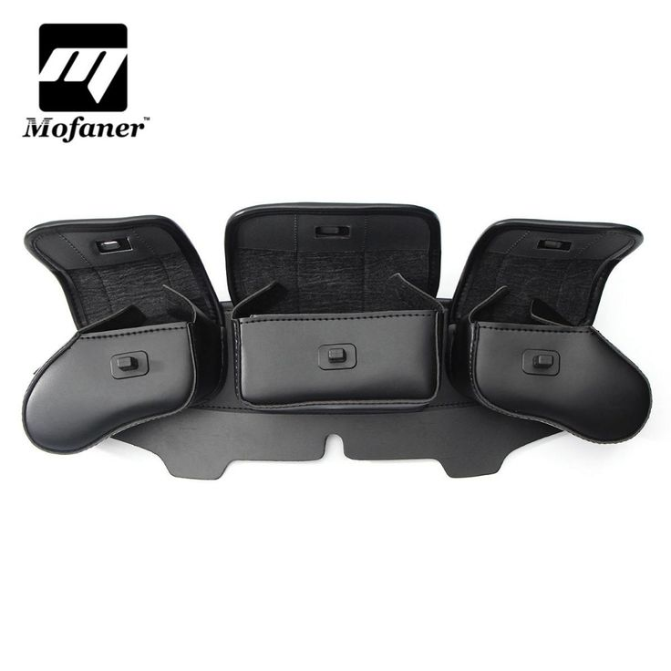 buy black 3 pockets motorcycle windshield fairing saddle pouch bag for harley electra street glide #harley #windshield
