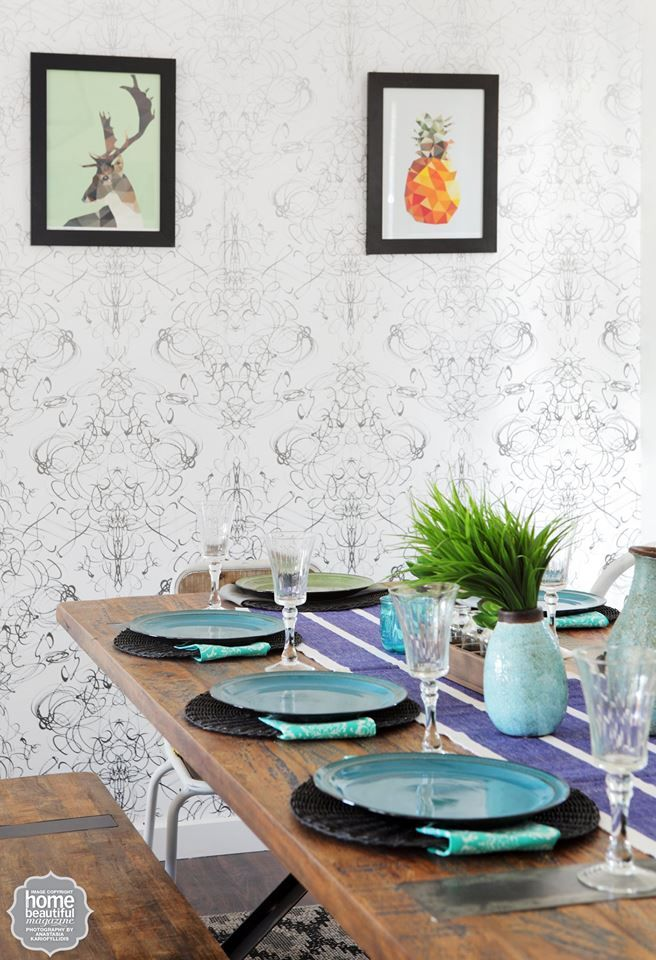 Ryan And Marlee Designed This Dining Area Hit The House Rules Of Preppy Eclectic