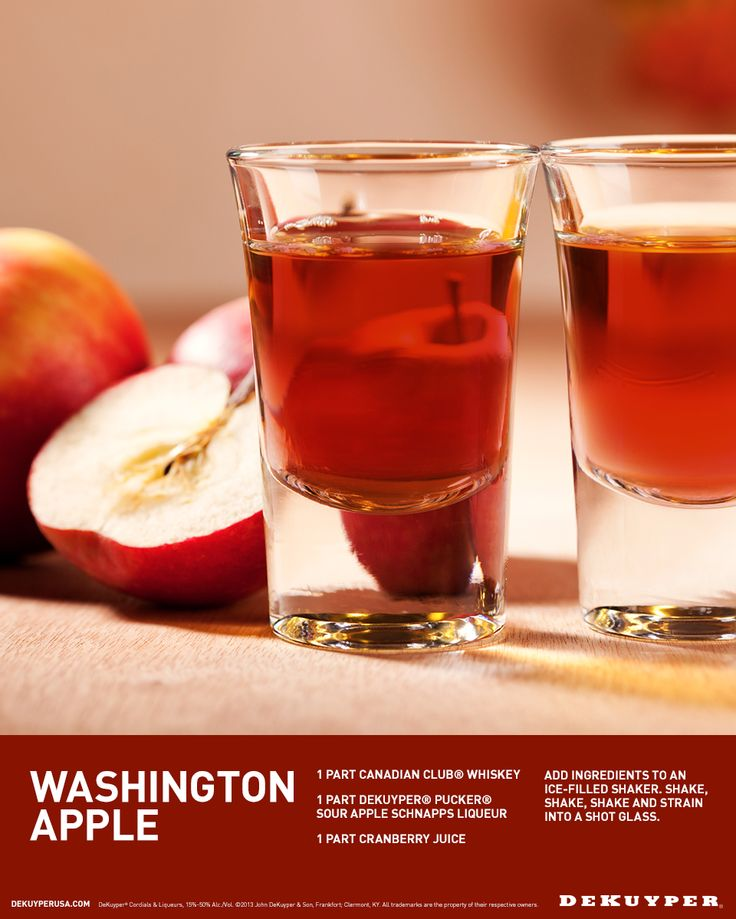 Shot Recipes, Washington Apple