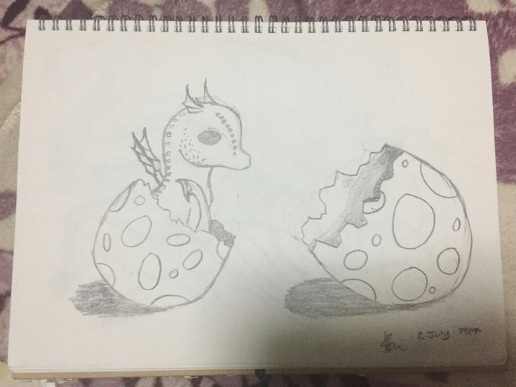Baby dragon just got hatched >∆< Created by Keegan #sketch #cute