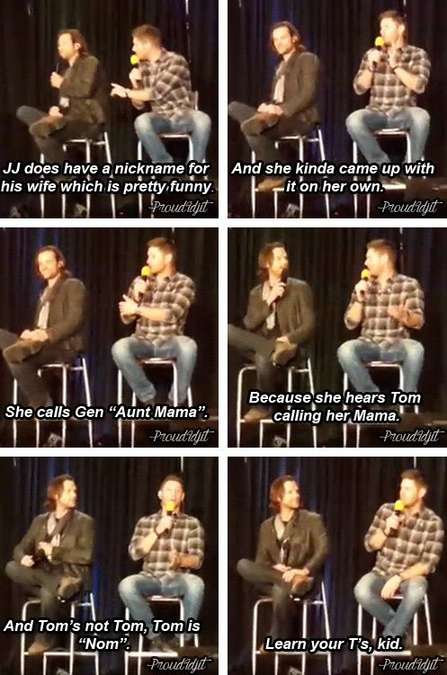 [gifset] Jensen and Jared #PhxCon15 I CAN'T BELIEVE WE MISSED THIS WE WERE THIRTY MINUTES AWAY AND WE MISSED IT