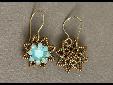 Sidonia's handmade jewelry - Little Stars Swarovski beaded earrings - YouTube