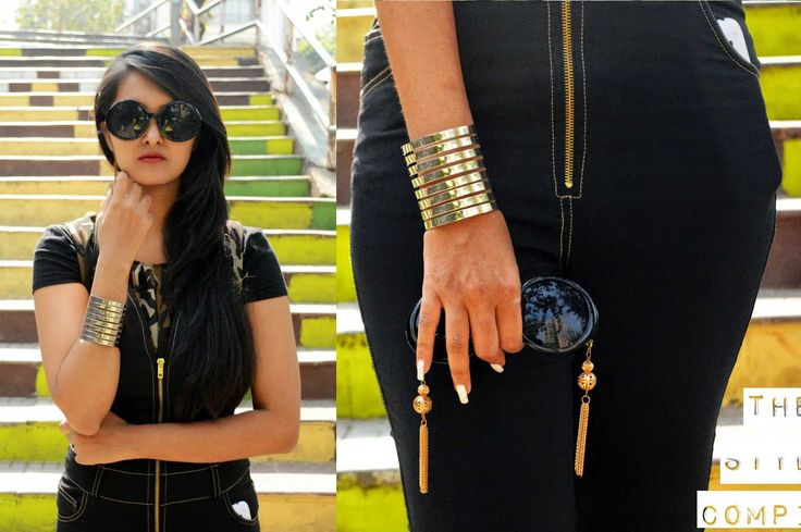 BLOGGED: Sarika Nagdeo in our Lord Of Rings Silver Cuff. #blogger #fashionfactive #silver #handcuff  Shop Youshine bracelet here >> http://buff.ly/1EK7360