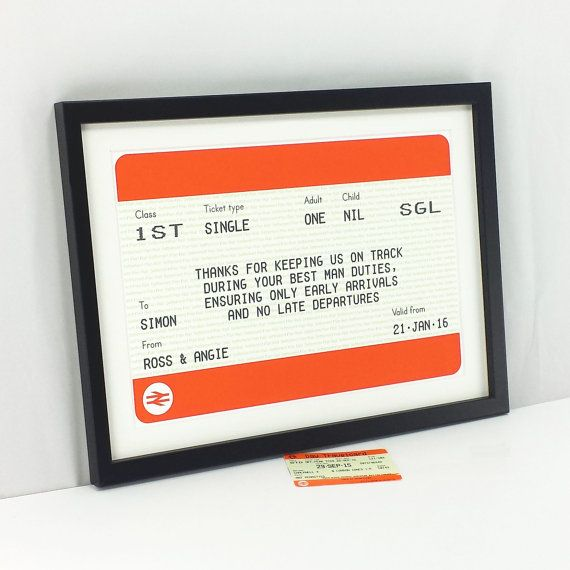 Personalised Best Man Gift Usher Gift Train by oflifeandlemons