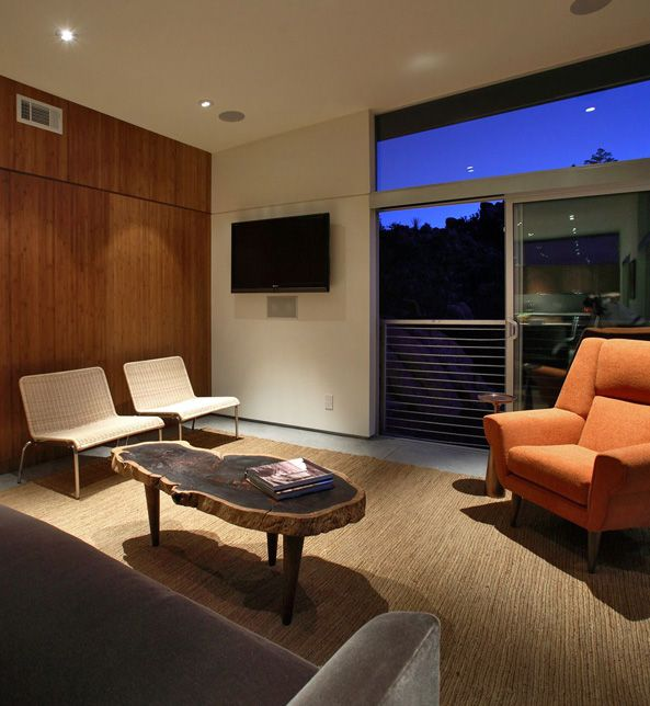 Minimalistl Living Room Interior Design In California - pictures, photos, images