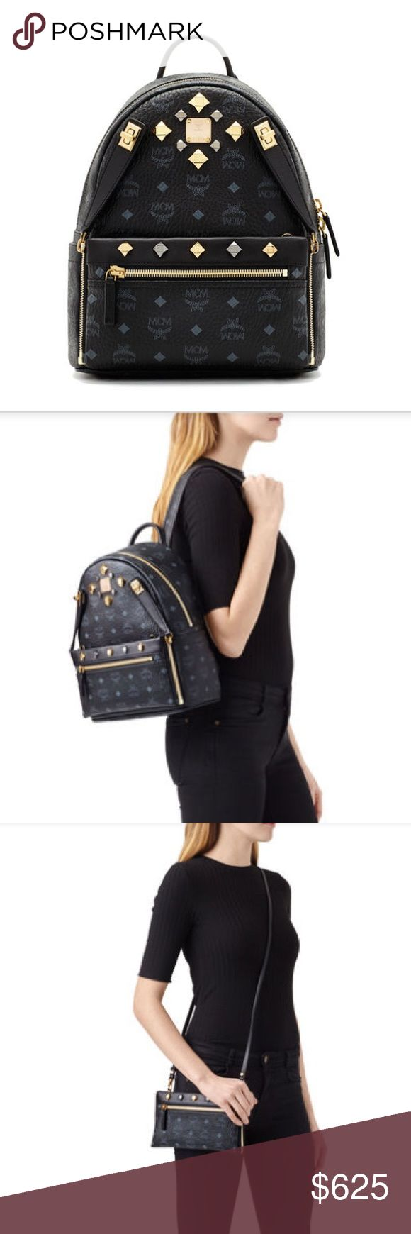 MCM Backpack MCM Dual Stark Backpack in black. Comes with the cross-body purse. Only used a handful of times, and taken in very good care. Still in perfect condition. 100% authentic. Smoke free home. Serious inquiries only please MCM Bags Backpacks