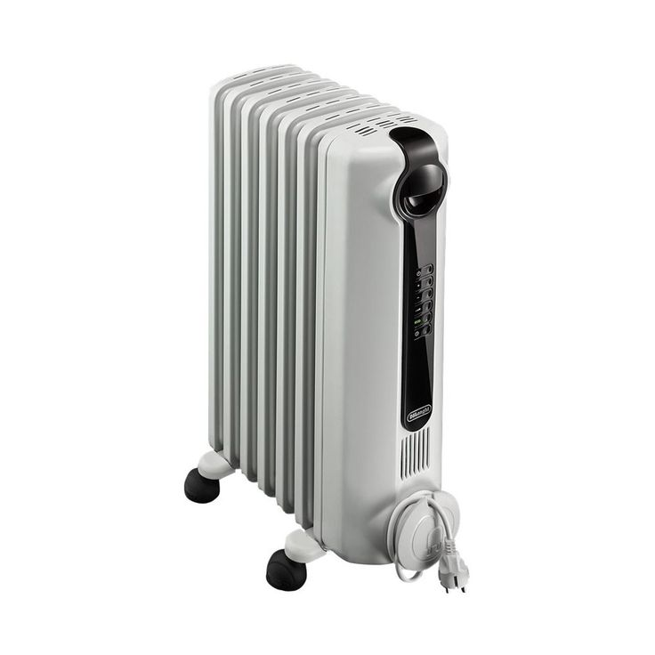 De'Longhi - RadiaS Eco Electric Oil Radiator Heater - Gray