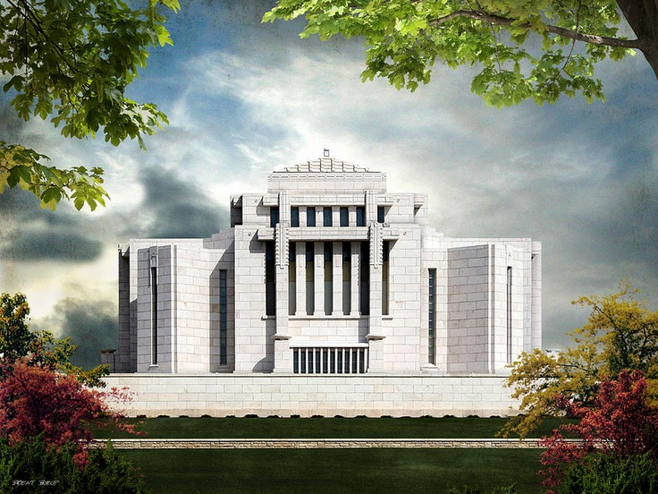 Cardston Alberta Lds Temple By Brent Borup This Is One