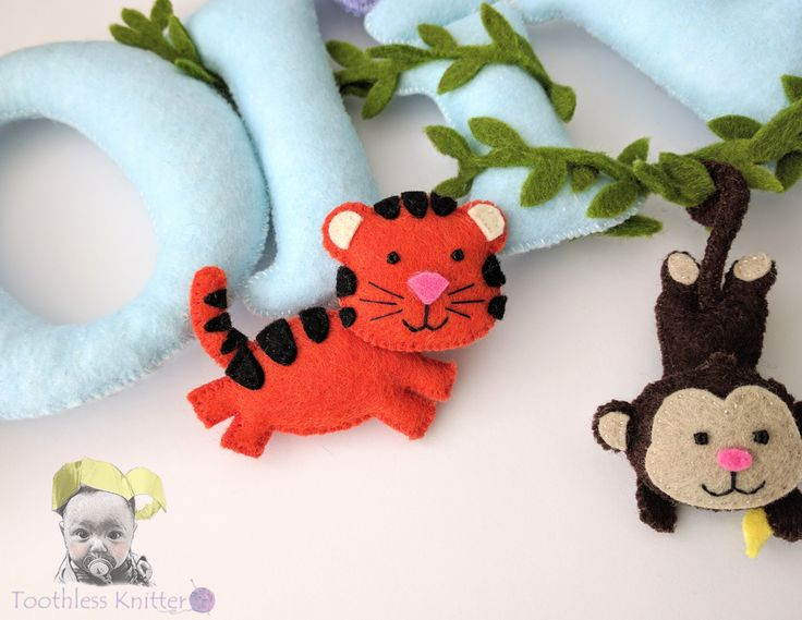 Filcowy Baner Imienny - Tygrys / Felt Baby Name Banner - Tiger