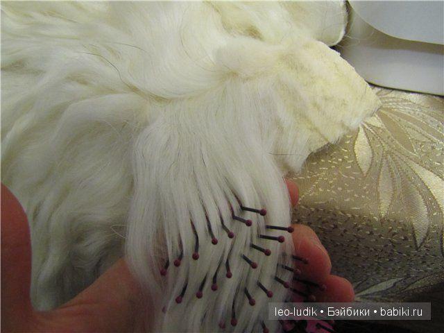 Мастер-класс по изготовлению трессов из натурального меха козы/овцы. Парички для куклы