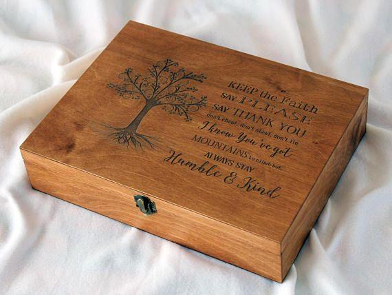 personalized memory box keepsake box custom quote memory box