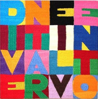 - Dreaming of wind...dreaming of fly- Artist: Alighiero Boetti