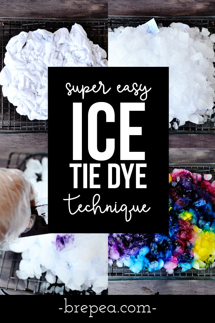This is by far one of the EASIEST tie dye techniques I have ever tried and it creates a pretty galaxy effect. This pattern uses ice and an easy crumple technique. Perfect for shirts, socks, even on a tapestry! #DIY #tiedye #craft #diyproject #shirts #dollargeneral #dollartree