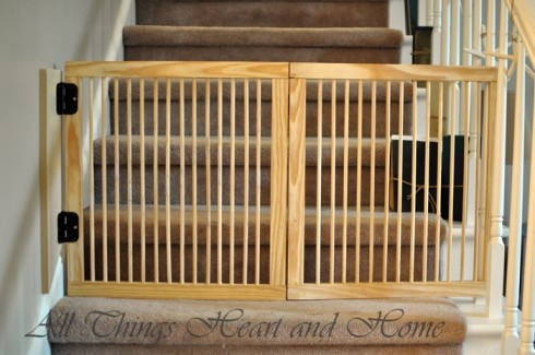making a baby gate for stairs