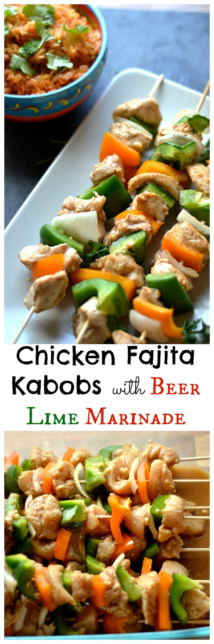Chicken Fajita Kabobs | Recipe | Kabobs, Beer and Dairy