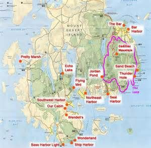 Acadia National Park Trail Map - Bing images
