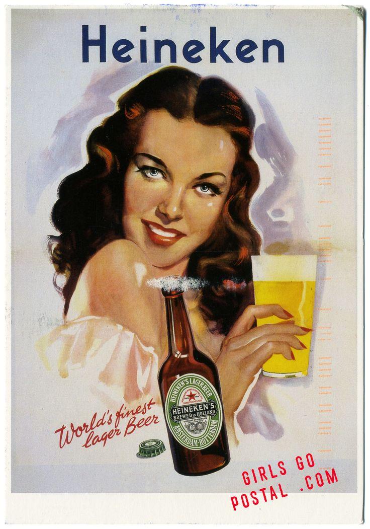 Vintage Heineken Beer Ad Canvas Print / Canvas Art by Allen Beilschmidt