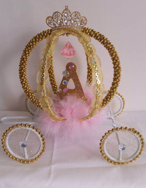 Cinderella Inspired Carriage Cake topper Room Decor by DollyDollz