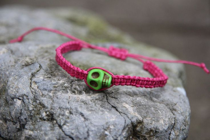 Halloween is coming so get ur bracelet now!!  A personal favorite from my Etsy shop https://www.etsy.com/uk/listing/205526955/halloween-skull-bright-pink-adjustable